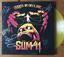 """Sum 41 - Order In Decline 12"""" Yellow Vinyl Lp Signed Autographed"""