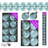 Ice Blue Christmas Tree Decoration Xmas Matching Set Ornament Baubles Garlands