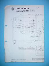 Service Scheme for Telefunken Magnetophone 501 De Luxe, Original