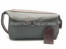 MULBERRY SCOTCH GRAIN LARGE WASH BAG / TOILETRIES POUCH - AUTHENTIC