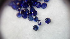 2 mm Round Cut Dark blue Lab Created Sapphire Loose Gemstone. Lot of 20 stones.