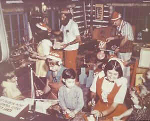 Vintage Photo Slide Santa's Workshop Toy Makers North Pole New York