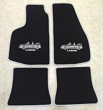 Autoteppich Fußmatten für VW Golf 1 Cabrio -1993' 4tlg Motiv schwarz silber Neu