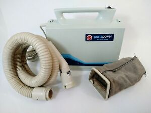 Vintage Hoover PortaPower 7.4 AMP Handheld Canister Vacuum S1049 & HOSE USA MADE