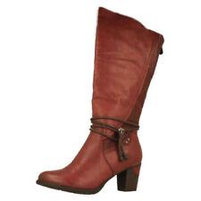 Stivali al ginocchio da donna rossi Rieker