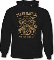 Death Machine - Mens Biker Hoodie Motorbike Motorcycle Bike Indian