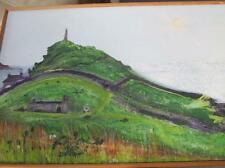 Chris Eaves Oil On Wood Cape Stack Cornwall