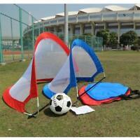Kids Portable Folding Pop Up Football Soccer Goal Training Net w/ Carry Bag us