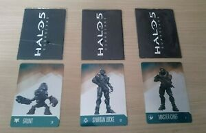 Halo 5 - Set of 3 Metal Collectable Cards - Promo - Grunt / Locke / Master Chief
