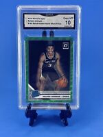 2019 Optic 186 Green Wave Keldon Johnson Spurs 📈 GMA 10 Rookie PSA? RC