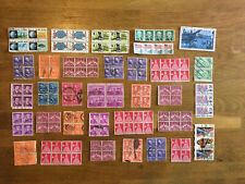 Vintage USA Stamps Off Paper Blocks
