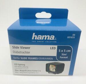Hand Held Slide 35mm Slide Viewer Hama DB-55 LED Slide Viewer  3x Magnnification