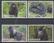 More details for 2010 rwanda rwandaise mountain gorillas tourism primates complete set of 4 mnh