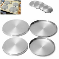 4Pcs/Set Stainless Steel Kitchen Stove Top Covers Burner Round Cooker Protectors