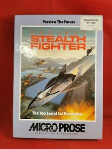 Project Stealth Fighter, computer game for Commodore 64 1987 MicroProse cassette