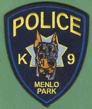 MENLO PARK CALIFORNIA POLICE K-9 UNIT PATCH DOBERMAN