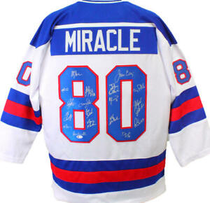 1980 Miracle On Ice Team USA Autographed White Jersey W/ 18 Signatures-Beckett W