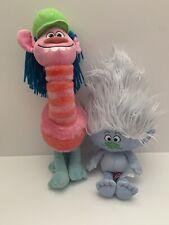 Macy's DreamWorks Trolls Plush Animation Dolls Cooper Guy Diamond Gray Pink 2016