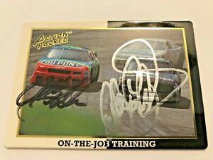 Dale Earnhardt Sr & Jeff Gordon NASCAR 1994 Action Packed #41 Autographed Signed