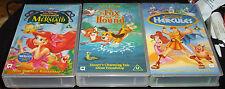 Disney 3 x VHS - Little Mermaid, Fox and the Hound & Hercules
