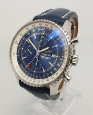 Breitling Navitimer World 46 mm Orologio da uomo in acciaio, A2432212/C561 BOX & Papers
