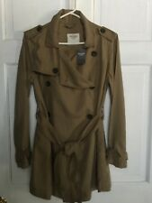 ABERCROMBIE & FITCH LIGHTWEIGHT TRENCH COAT 'LOOK' WOMENS SM NWT