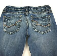 Big Star Casey Crop Denim Blue Jeans  Stretch Distressed USA Women's 29, 32x21