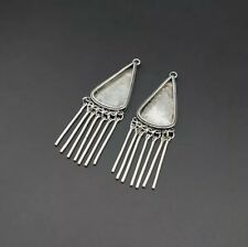 silver Diy embed earring 1pair chinese exotic tribal handmade miao