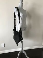BALENCIAGA Black Suede Flap MESSENGER LARGE Shoulder Bag