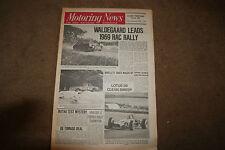 Motoring News 20 November 1969 Rally Imp Test RAC Interim Report F2 Review March