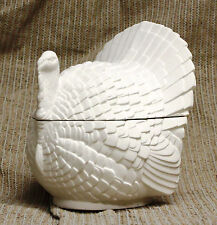 Ceramic Bisque Covered Turkey Bowl Duncan Mold 395 U-Paint Ready To Paint