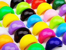 Wholesale 30Pcs Bulk Lots Multi Candy Color Resin Lucite Chunky Men Womens Rings