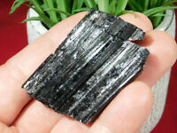 A Nice! and 100% Natural Schorl or BLACK Tourmaline Crystal From Brazil 54.1gr