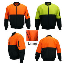 HI VIS Safety Jacket Soft Shell Windproof Work Wear Bomber Warm Winter Coat