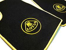 Black velours carpet set for Lotus Esprit S1 S2 S3 SE 1976-1993 Logo yellow