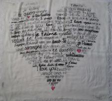 -Superbe châle CODELLO soie TBEG  vintage 100 x 180 cm