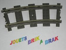 lego Train track curve rail courbe 9v color DARK GRAY ref 2867