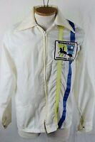 Vintage RV Winnebago International Travelers Patch Jacket Sz M Glamping Camping