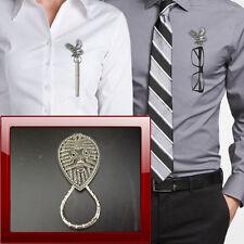 Viking Face VFPP Pewter Pin Brooch Drop Hoop Holder Glasses,Pen