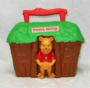 WINNIE THE POOH'S HOUSE LUNCHBOX BY THERMOS CO - VERY GOOD CONDITION