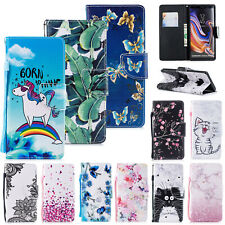 For Samsung Galaxy S10/S9/S8/S7/Note 9 Pattern Leather Card Wallet Case Cover