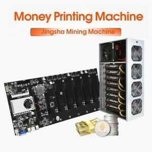 Mining Motherboard Crypto 8 GPU DDR3 Memory Ethereum Bitcoin Miner Machine Board