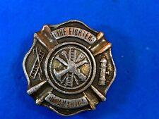 Vintage 1979 firefighters of America Emblem logo symbol belt buckle