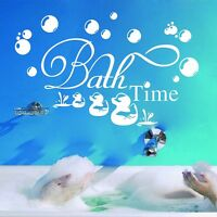 Bath Time Removable Wall Stickers Vinyl Wall Decals Kids Bathroom Home Decor DIY