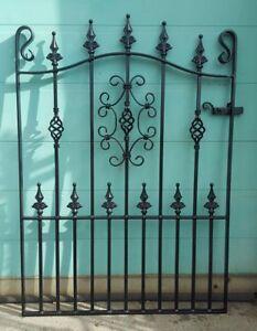 "Wrought Iron Metal Garden Gate/Gates-TOP QUALITY-3ft 6""(1067mm)Frame height-AVON"