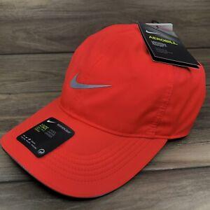 Nike Aerobill Featherlight Dri-Fit Running Hat (AR1998 635) 'Bright Crimson'
