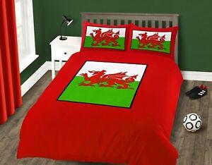 Welsh Dragon Quilt Cover Welsh Flag Wales Duvet Cover & Pillowcase Set