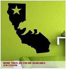 """California State Map Cali Bear Removable Wall Vinyl Decal Sticker 22"""" X 25.6"""""""