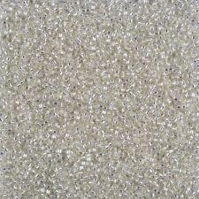 Miyuki Size 15/0 Round Seed Beads 15-1 Silver Lined Crystal 8.2g (B88/1)
