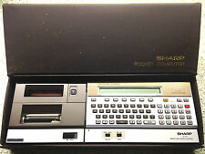 SHARP POCKET COMPUTER PC-1500 WITH CASE & CE-150 PRINTER CASSETTE INTERFACE UK